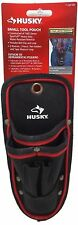 Husky Small Tool Pouch Water Resistant with Belt Clip NEW 3 Pockets Pen Holders