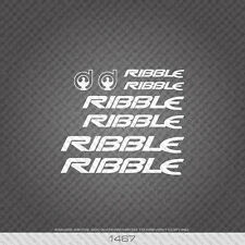 01467 Ribble Bicycle Stickers - Decals - Transfers - White