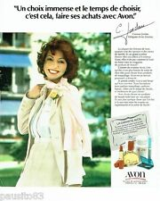 PUBLICITE ADVERTISING 116  1978  les parfums maquillage Avon