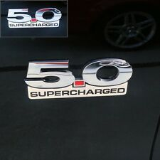 11 12 13 14 Mustang Supercharged Emblem Finisher - Billet with 3M adhesive - 2pc