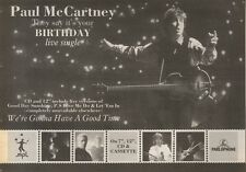 20/10/90 Pgn40 Advert: Paul Mccartney They Say Its Your Birthday Live Single