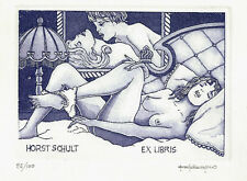 Jugutes ex libris paolo Rovegno/estimula Erotic nude ready for bed c3 sign.