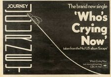 26/9/81PN34 JOURNEY : WHOS CRYING NOW ALBUM ADVERT 7X11