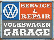 VW Garage Service And Repair metal sign 410mm x 300mm  (rh)