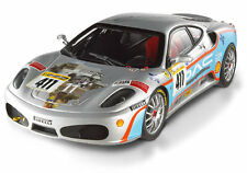 FERRARI F430 CHALLENGE #411 TEAM SHELTON PIRELLI SILVER BY HOT WHEELS ELITE 1:18