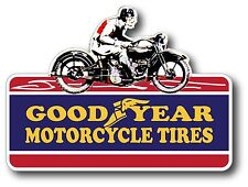 VINTAGE MOTORCYCLE TIRES RACING STICKER DECAL