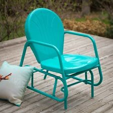 Outdoor Glider Chair Metal Retro Vintage Patio Deck Lawn Garden Yard Furniture