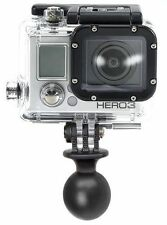 "New RAM MOUNT RAM-RAP-B-202U-GO 1"" Diameter Ball with Custom GO Pro Hero Adapter"
