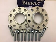15mm BIMECC SILVER HUB CENTRIC SPACERS + 10 X 45mm BOLTS FITS BMW 72.6 M14X1.25