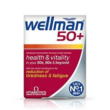 Vitabiotics Wellman 50 + (30, 100). supplemento Completa per gli uomini