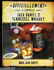 PUBLICITE ADVERTISING 056  2003  Le whisy Jack Daniel's  tennessee