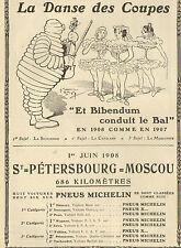 PNEUS MICHELIN BIBENDUM CONDUIT LE BAL PUBLICITE 1908