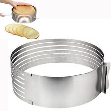 New Adjustable Stainless Steel Round Mousse Cake Ring Mold Layer Slicer Cutters