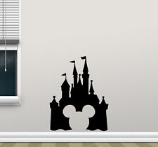 Disney Castle Mickey Mouse Wall Decal Vinyl Sticker Nursery Poster Decor 170crt
