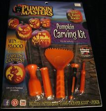 PUMPKIN MASTERS CARVING KIT PATTERN BOOK SMELL MY FEET 5 TOOLS NEW & SEALED!
