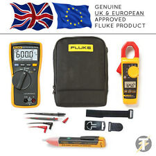 Fluke 113 True RMS Multimeter + 325 Clamp Meter + TPAK3 + 1AC + C115 Case