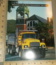 1997 Mack Government Garbage Refuse Dump Truck Brochure