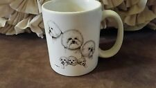 Laura Rogers Bichon Frise Coffee cup 1995
