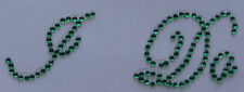 '' I Do '' Green Crystal Diamante ''Bling'' Shoe Applique Sticker