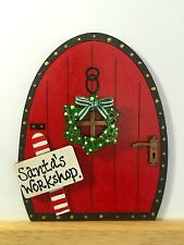 Handpainted Christmas Santa Elf Elves Pixie Fairy Door Gift Skirting Board Decor
