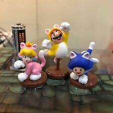 NINTENDO Furuta Super Mario 3d worlds cat mario peach toad  Mini Figures JAPAN