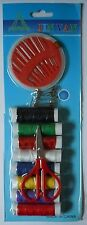 New Sewing Kit Threads Scissors Needles Safety Pins DIY Dress Making Craft Pack