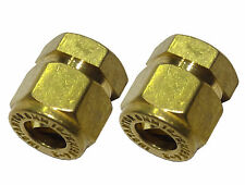 8mm Compression Stop End Caps | Brass Plumbing Fitttings | 2 Pack