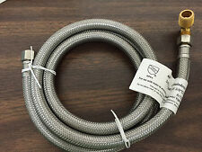 """NEW: Dishwasher Water Supply Connector 5' Stainless Steel SS Line w/Elbow 3/8"""""""