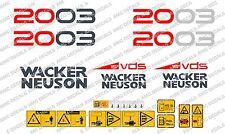 NEUSON 2003 DIGGER DECALS STICKER SET