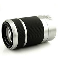 Sony SEL-55210 E55-210mm 4.5-6.3F Tele-Zoomobjektiv (silber)