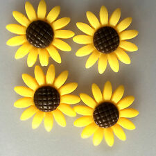 10pcs yellow 24mm Daisy Resin Flatback Cabochon ScrapbookIng for phone/craft8