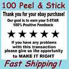 """Qty 100 2"""" x 1 1/2"""" Thank You For Your eBay Purchase FB Label Sticker"""