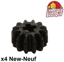 Lego technic - 4x engrenage pignon gear 12 thoot dents noir/black 32270 NEUF