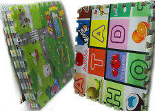 New Soft Foam Alphabet Puzzle Play Mat Baby Childrens Kids Playmat 120 x 120cm