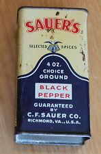 ancienne boite  black pepper selected epices u.s.a  sauer s ( poivre )