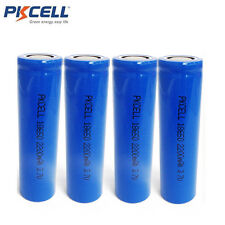 4 x 18650 3.7V Battery Rechargeable Li-ion Unprotected 2200mAh for Vape Mod