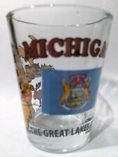 MICHIGAN THE GREAT LAKES STATE ALL-AMERICAN COLLECTION SHOT GLASS SHOTGLASS