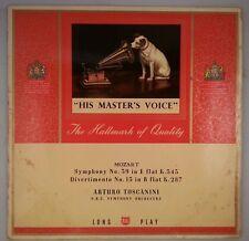 Mozart: Symphony #35/Divertimento #15/Toscanini/UK HMV ALP1492 2S/15S VG+