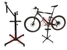 BICYCLE REPAIR STAND Bike Adjustable Heights 360º Rotation w/ Lock & Tool Tray