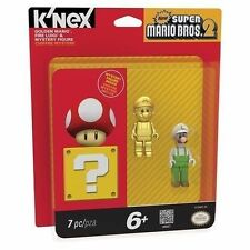 K'NEX NEW SUPER MARIO BRO. 2 GOLDEN MARIO , FIRE LUIGI & MYSTERY FIGURE KN38867