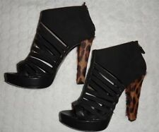 ROBERTO CAVALLI / JUST CAVALLI BLACK LADIES HIGH HEEL SHOES UK 3/4