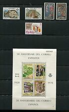 Spanish Andorra 1978 Complete Year Set NH Scott 102 103-04 105 106-07