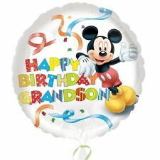 Mickey Mouse Happy Birthday Grandson Standard HX Foil Balloons Supplies