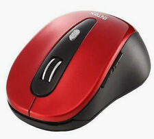 Intex Shiny Wireless Cordless 2.4GHz 800Dpi Optical Mouse Red