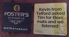 Fosters beer mat/coaster, new