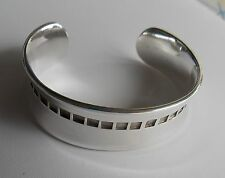 STERLING SILVER SIGNED 2004 MAYORS 925 CONCAVE CUFF BRACELET 43 GRAMS (BIRKS?)