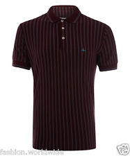 Authentic Vivienne Westwood VW MAN Burgundy Striped Classic Orb Polo Shirt M
