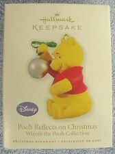 NEW 2010 HALLMARK ORNAMENT POOH REFLECTS ON CHRISTMAS WINNIE THE POOH COLLECTION