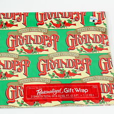 Old Christmas Gift Wrapping Paper Retro 80s Family Personalized Paper Grandpa