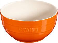 Staub Keramik 6 er Set Schale Schüssel Desertschale, groß orange 17 cm Ceramic